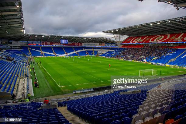 A general view during the FA Cup third round match between Cardiff City and Carlisle United at the Cardiff City Stadium on January 04 2020 in Cardiff...