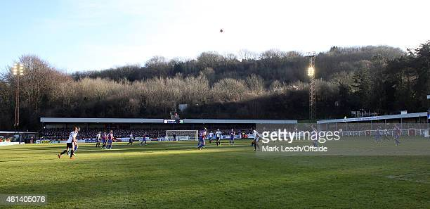 A general view during the FA Cup Third Round match between Dover Athletic and Crystal Palace at the Crabble Stadium on January 04 2015 in Dover...