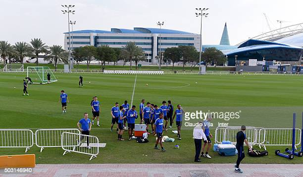 General view during the FC Internazionale training session at Aspire on January 02 2016 in Doha Qatar