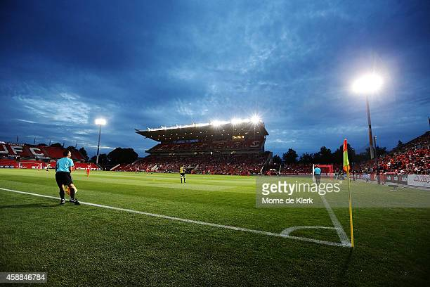 ADELAIDE AUSTRALIA NOVEMBER A general view during the FFA Cup match between Adelaide United and Central Coast Mariners at Coopers Stadium on November...