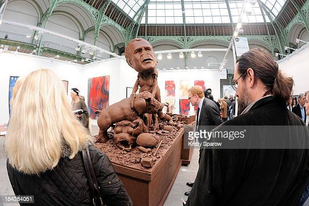 General view during the FIAC 2012 international contemporary art fair at the Grand Palais on October 17, 2012 in Paris, France.