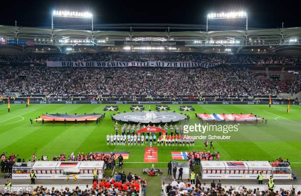 A general view during the FIFA 2018 World Cup Qualifier between Germany and Norway at MercedesBenz Arena on September 4 2017 in Stuttgart...