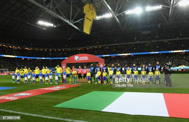 General view during the FIFA 2018 World Cup Qualifier PlayOff First Leg between Sweden and Italy at Friends arena on November 10 2017 in Solna