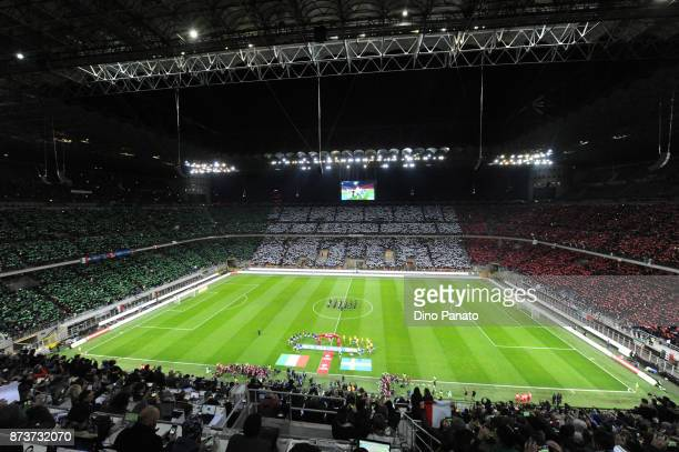 A general view during the FIFA 2018 World Cup Qualifier PlayOff Second Leg between Italy and Sweden at San Siro Stadium on November 13 2017 in Milan