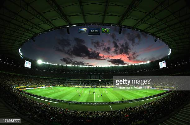 General View during the FIFA Confederations Cup Brazil 2013 Semi Final match between Brazil and Uruguay at Governador Magalhaes Pinto Estadio...
