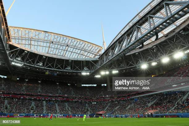 General View during the FIFA Confederations Cup Russia 2017 Final match between Chile and Germany at Saint Petersburg Stadium on July 2 2017 in Saint...