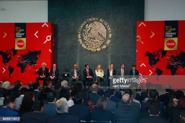 General view during the FIFA Trophy Tour at Residencia Oficial de Los Pinos on April 11 2018 in Mexico City Mexico