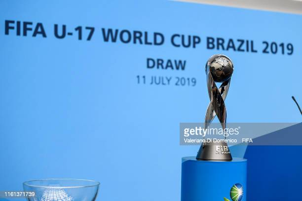 A general view during the FIFA U17 World Cup Brazil 2019 draw at the FIFA headquarters on July 11 2019 in Zurich Switzerland