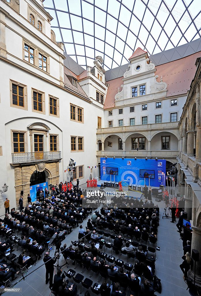 A general view during the FIFA U20 Women's World Cup draw on April 22, 2010 in Dresden, Germany.
