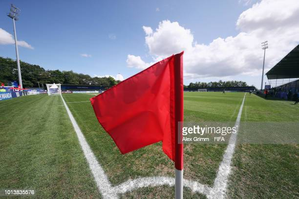 A general view during the FIFA U20 Women's World Cup France 2018 group C match between Spain and Japan at Stade GuyPiriou on August 9 2018 in...