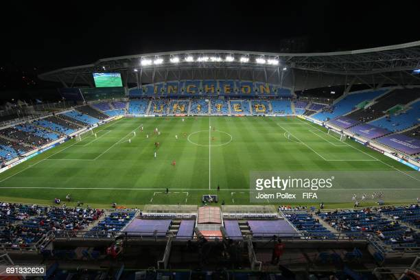 General view during the FIFA U-20 World Cup Korea Republic 2017 Round of 16 match between USA and New Zealand at Incheon Stadium on June 1, 2017 in...