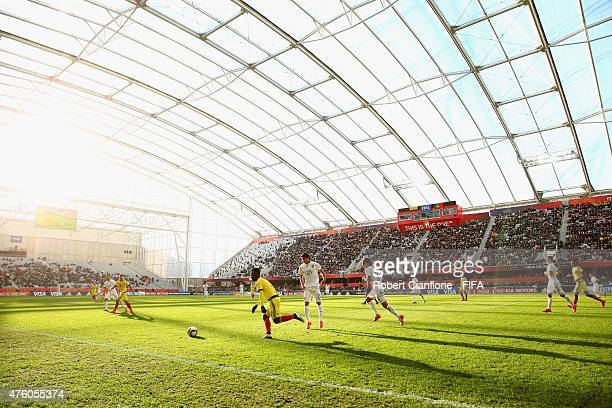 A general view during the FIFA U20 World Cup New Zealand 2015 Group C match between Colombia and Portugal at Otago Stadium on June 6 2015 in Dunedin...