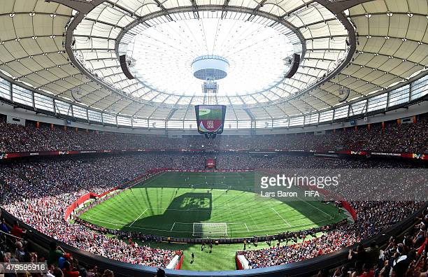 General view during the FIFA Women's World Cup 2015 Final between USA and Japan at BC Place Stadium on July 5, 2015 in Vancouver, Canada.