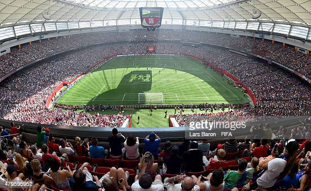 A general view during the FIFA Women's World Cup 2015 Final between USA and Japan at BC Place Stadium on July 5 2015 in Vancouver Canada