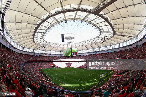 General view during the FIFA Women's World Cup 2015 Round of 16 match between Canada and Switzerland at BC Place Stadium on June 21, 2015 in...
