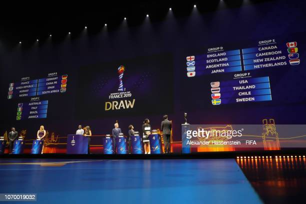 A general view during the FIFA Women's World Cup France 2019 Draw at La Seine Musicale on December 8 2018 in Paris France