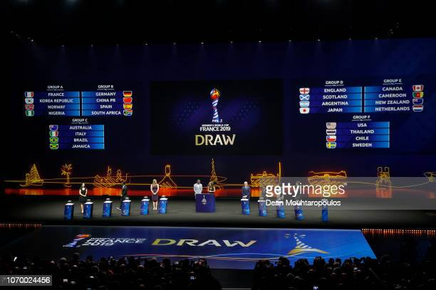 General view during the FIFA Women's World Cup France 2019 Draw at La Seine Musicale on December 8, 2018 in Paris, France.