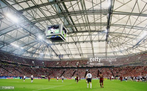 General view during the FIFA World Cup Germany 2006 Quarterfinal match between England and Portugal played at the Stadium Gelsenkirchen on July 1...
