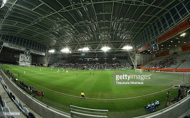 A general view during the FIFA World Cup Qualifier match between the New Zealand All Whites and New Caledonia at Forsyth Barr Stadium on March 22...