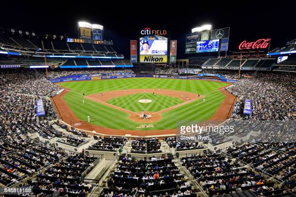 A general view during the fifth inning of the game between the Tampa Bay Rays and the New York Yankees at Citi Field on September 11 2017 in the...