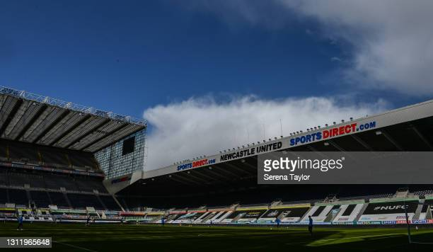 General view during the fifth round of the FA Youth Cup between Newcastle United and Watford FC at St James' Park on April 11, 2021 in Newcastle upon...