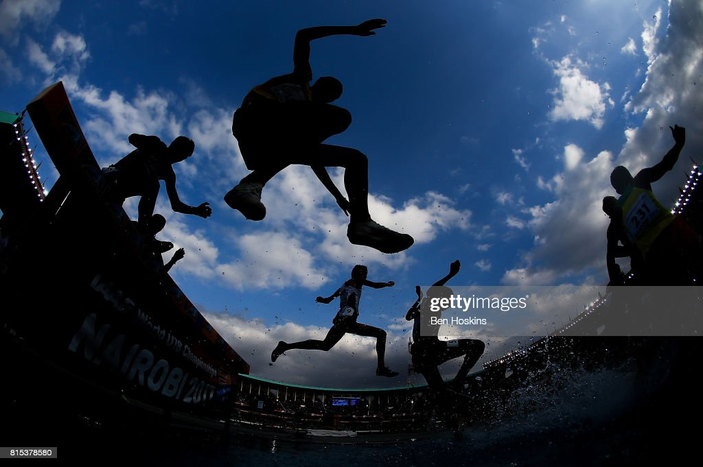 A general view during the final of the mens 2000m steeplechase on day five of the IAAF U18 World Championships at The Kasarani Stadium on July 16, 2017 in Nairobi, Kenya.