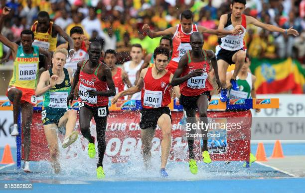 A general view during the final of the mens 2000m steeplechase on day five of the IAAF U18 World Championships at The Kasarani Stadium on July 16...