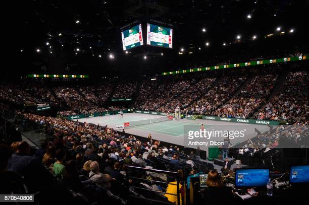 General view during the Final of the Rolex Paris Masters at AccorHotels Arena on November 5 2017 in Paris France
