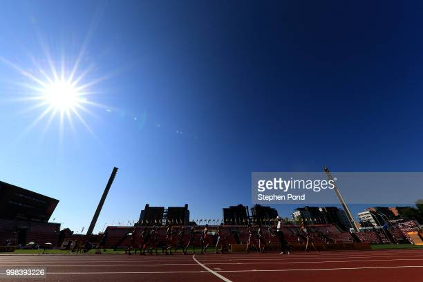 General view during the final of the women's 10,000m walk on day five of The IAAF World U20 Championships on July 14, 2018 in Tampere, Finland.