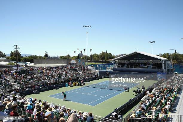 General view during the finals match between Mihaela Buzarnescu of Romania and Maria Sakkari of Greece at the Mubadala Silicon Valley Classic at...