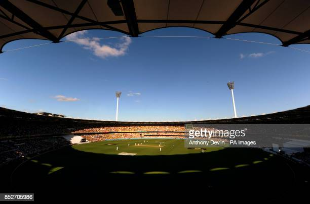 General view during the first Ashes Test at The Gabba Brisbane Australia