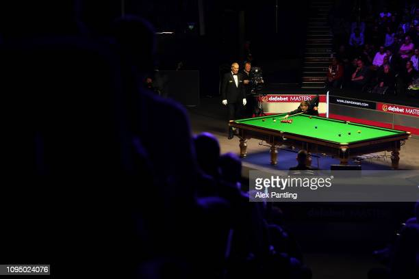 A general view during the first round match between Judd Trump of England and Kyren Wilson of England on day four of The 2019 Dafabet Masters at...