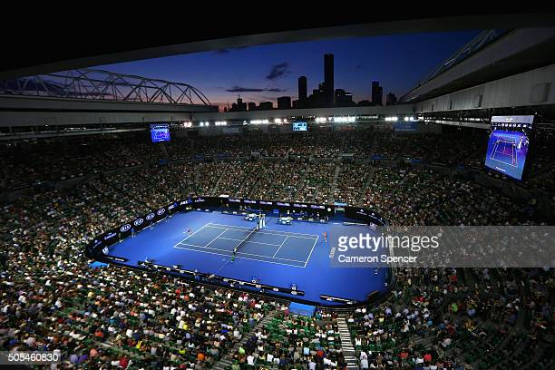 A general view during the first round match between Kristyna Pliskova of the Czech Republic and Samantha Stosur of Australia during day one of the...