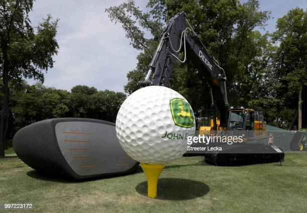 A general view during the first round of the John Deere Classic at TPC Deere Run on July 12 2018 in Silvis Illinois