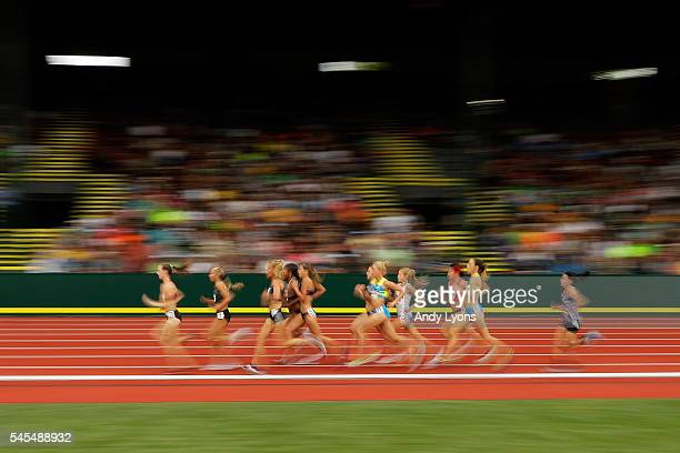 General view during the first round of the Women's 5000 Meter during the 2016 U.S. Olympic Track & Field Team Trials at Hayward Field on July 7, 2016...