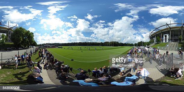 A general view during the first training session of Hamburger SV after the summer break on June 29 2016 in Hamburg Germany