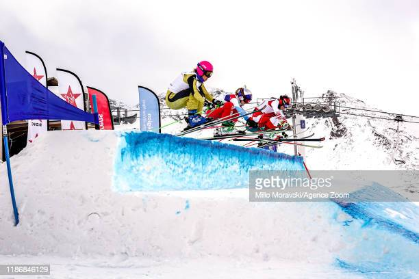 General view during the FIS Freestyle Ski World Cup Men's and Women's Ski Cross on December 7, 2019 in Val Thorens, France.