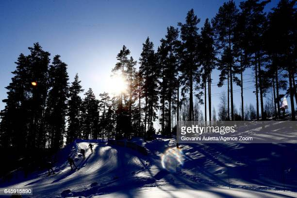 General view during the FIS Nordic World Ski Championships Men's and Women's Cross Country Skiathlon on February 25, 2017 in Lahti, Finland.