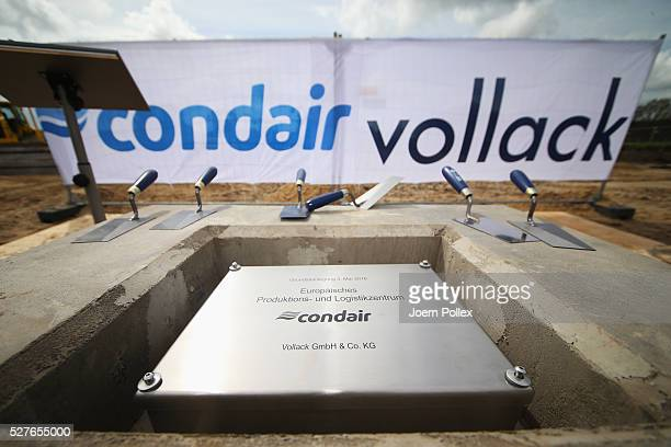 General view during the foundation stone laying ceremony for the new Condair EMEA Logistic and Production Plant on May 3 2016 in Norderstedt Germany