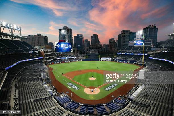 General view during the fourth inning in Game Two of the American League Division Series between the Tampa Bay Rays and the New York Yankees at PETCO...