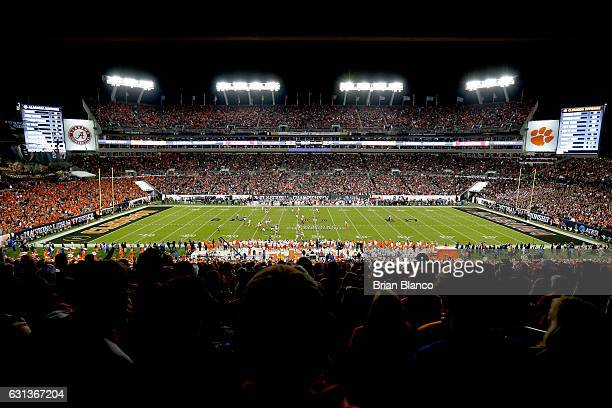 A general view during the fourth quarter of the 2017 College Football Playoff National Championship Game between the Alabama Crimson Tide and the...
