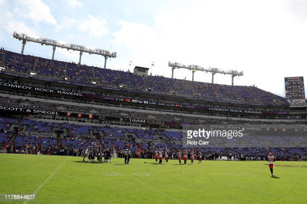 A general view during the fourth quarter of the Baltimore Ravens and Cleveland Browns game at MT Bank Stadium on September 29 2019 in Baltimore...