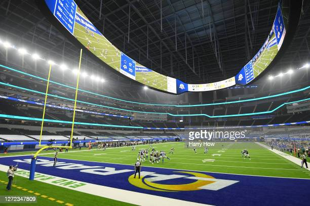 General view during the fourth quarter of the game between the Dallas Cowboys and the Los Angeles Rams at SoFi Stadium on September 13, 2020 in...