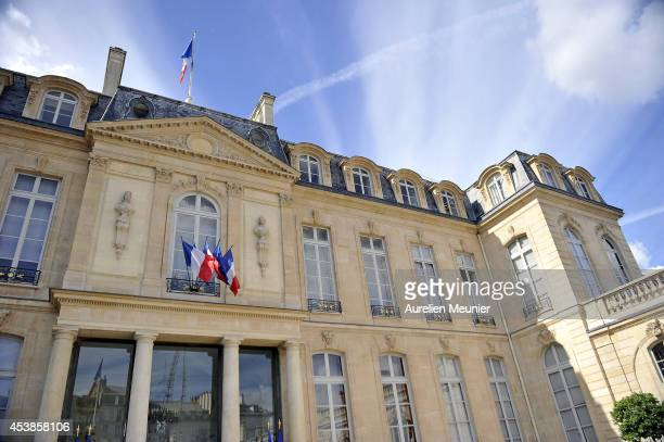 A general view during the French Ministres Cabinet Meeting at the Elysee Palace on August 20 2014 in Paris France