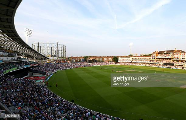 General view during the Friends Life T20 match between Surrey Lions and Middlesex Panthers at The Kia Oval on July 5 2013 in London England
