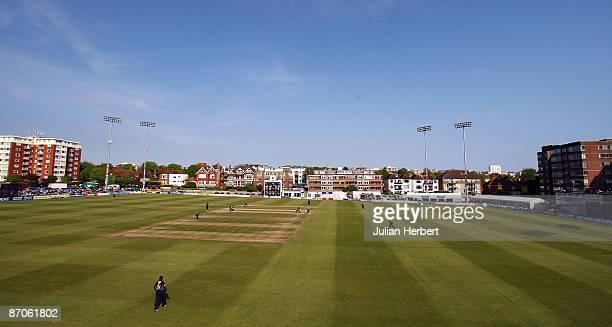 A general view during the Friends Provident Trophy match between Sussex and Durham at The County Ground on May 11 2009 in Hove England