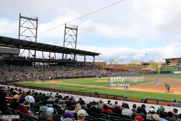 A general view during the game between the Arizona Diamondbacks and the Colorado Rockies at Salt River Fields at Talking Stick on Friday February 23...