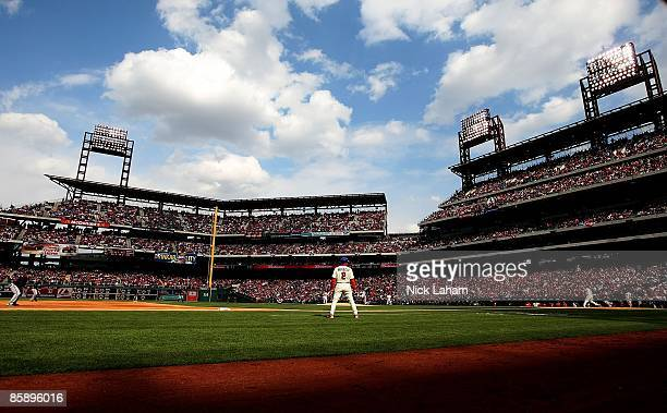 General view during the game between the Atlanta Braves and the Philadelphia Phillies at Citizens Bank Park on April 8, 2009 in Philadelphia,...