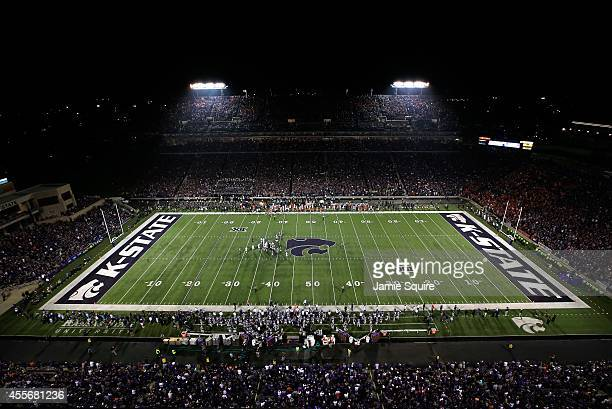 General view during the game between the Auburn Tigers and the Kansas State Wildcats at Bill Snyder Family Football Stadium on September 18, 2014 in...