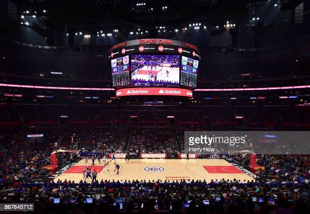 General view during the game between the Detroit Pistons and the LA Clippers at Staples Center on October 28 2017 in Los Angeles California